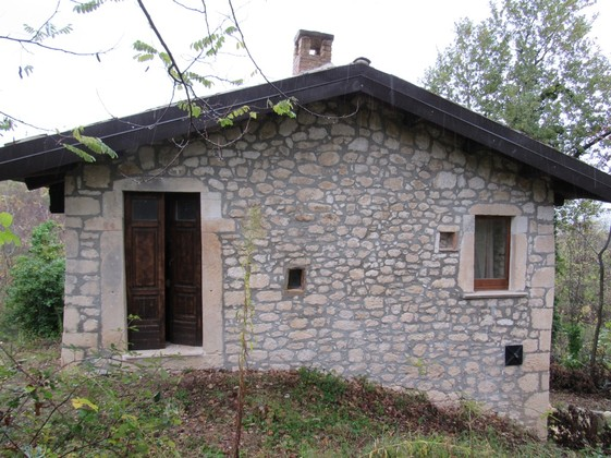 Restored, detached stone cottage hidden in forests with garden and mountain views.